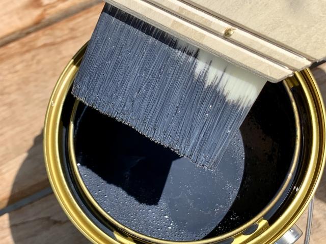 付帯部塗装 刷毛