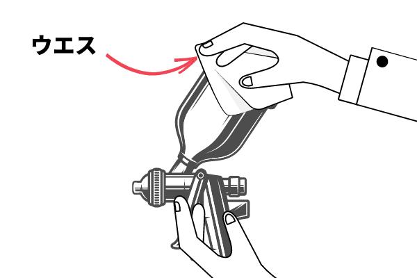 手順1:容器内・蓋・本体を拭く